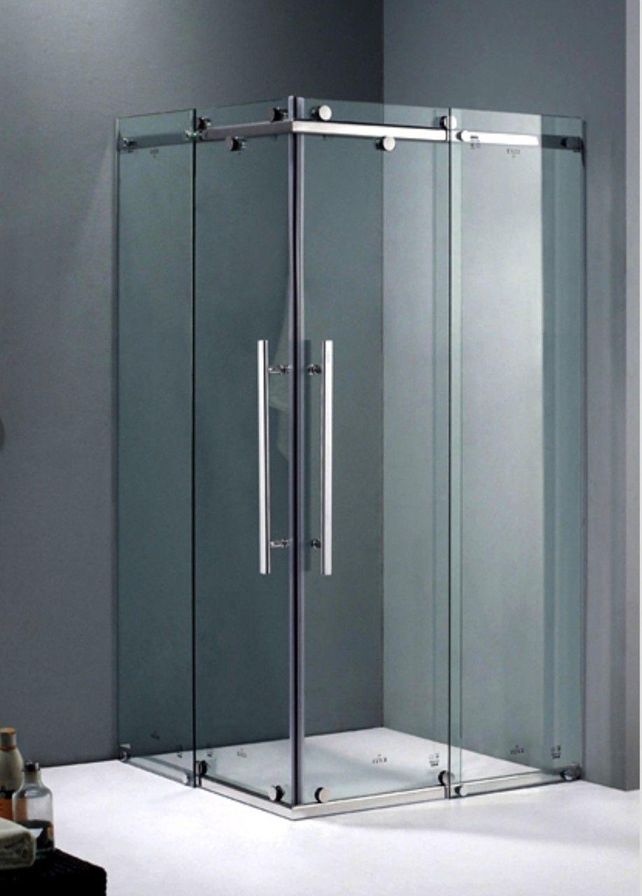 Shower Screen Frameless Sliding Corner Shower Screen With Base 900mm X 900mm X 1990mm Klassliving Shower Screen Corner Shower Sliding Shower Screens