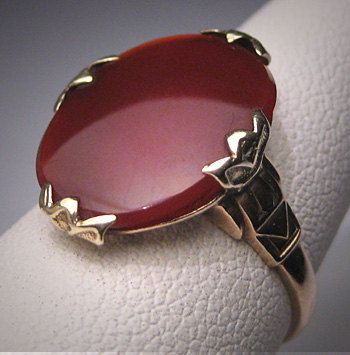 Antique Carnelian Ring Vintage Victorian Art by AawsombleiJewelry