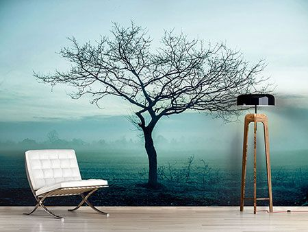 raumansicht wohnzimmer fototapete der zauberbaum | wanddeko
