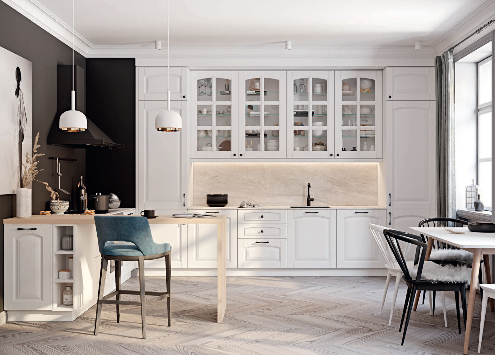 Realizacje Kuchnia Biala Na Wymiar Kazmierz Poznan Kitchen Cabinets Kitchen Home Decor