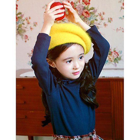 fef7e3f97082c Amber ルニベルポーラセーター(ネイビー) - 韓国子供服 通販 リズハピネス  キッズ服 ベビー服 男の子 女の子  こども服セレクトショップ
