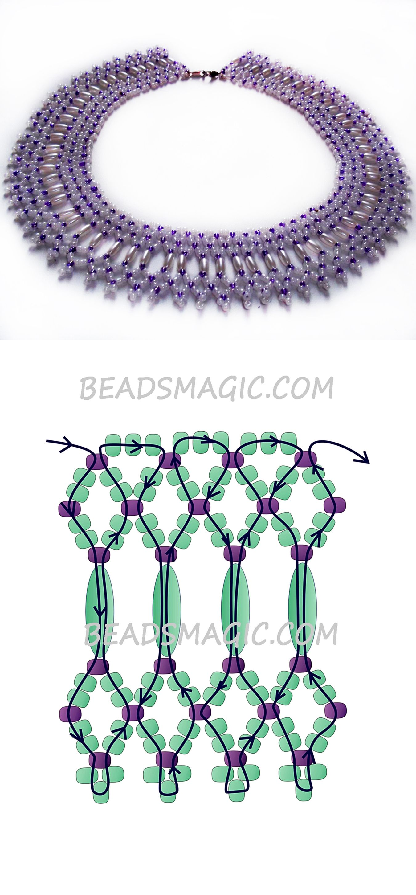 Free pattern for necklace Fame