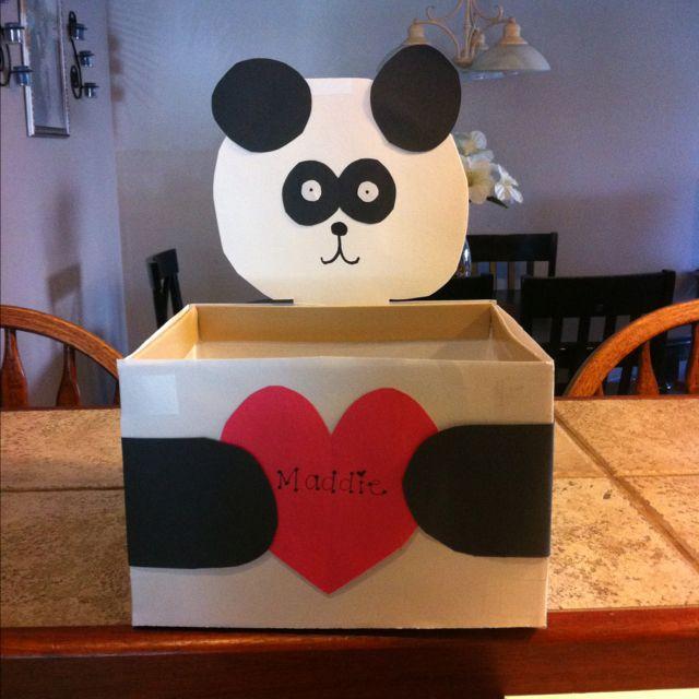 Schön Panda Valentineu0027s Day Mailbox