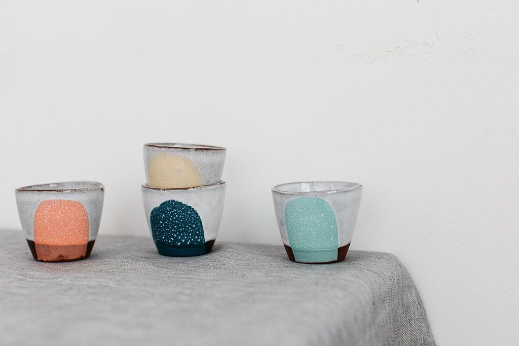 Silvia K Ceramics Espresso Beaker Terracotta Colour Tin Glaze Pottery In 2020 Glazes For Pottery Pottery Courses Pottery