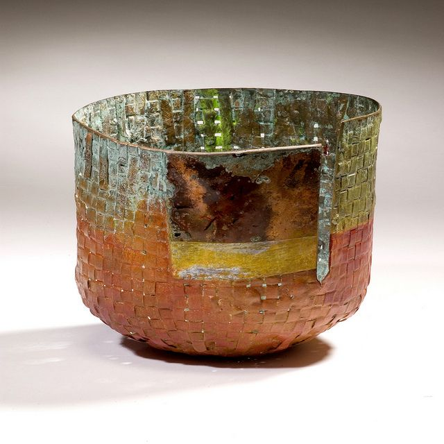 Woven Copper Basket By David Bacharach Tea Bowl 11 X11 X11 Finecraft Philadelphia Museum Of Art Tea Bowls Copper Basket
