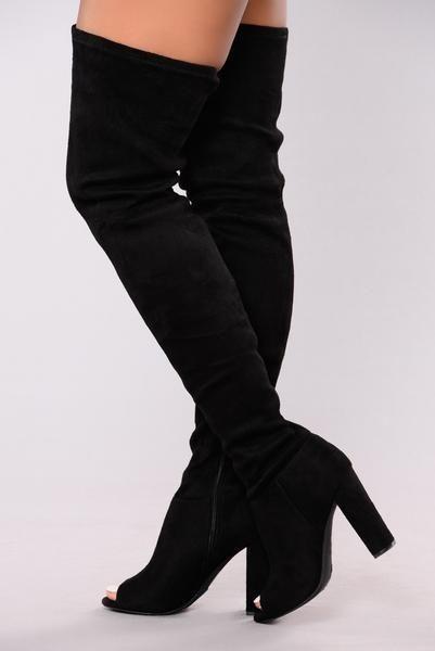 b87e7d7c8532 Carmella OTK Boot - Black