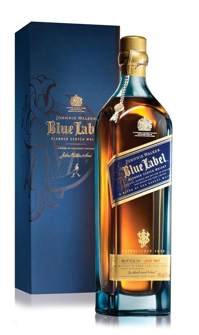 johnnie walker blue label. paid $154 at costco is so. ca, it goes