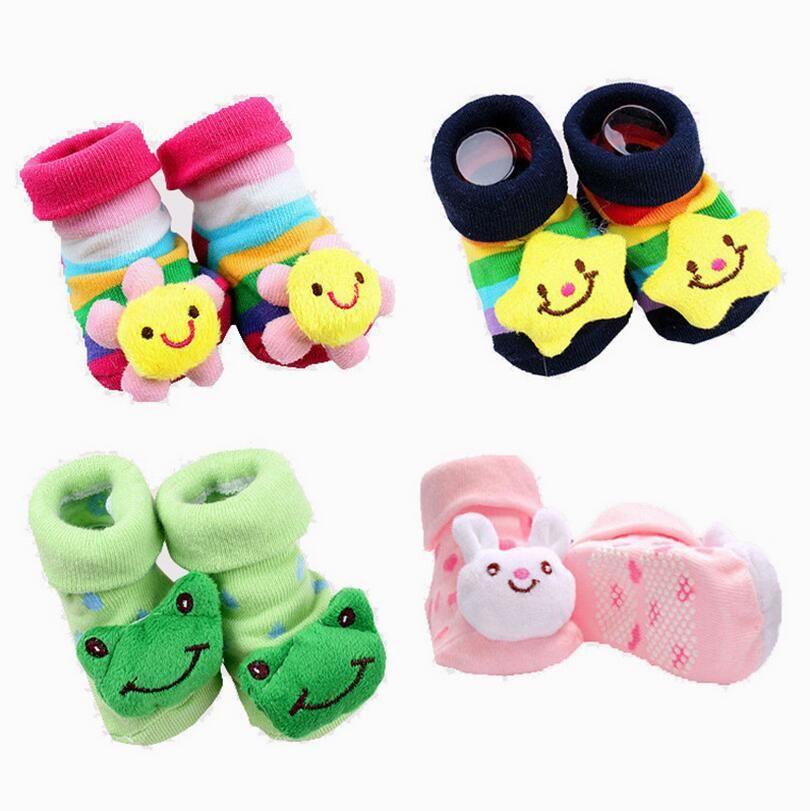 Newborn Cotton Anti-slip Baby Socks Boy Girls Cartoon Animal Toddler Floor Socks