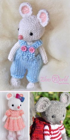 Photo of Knitting instructions for mice Amigurumi Toys – Instructions for different mice …