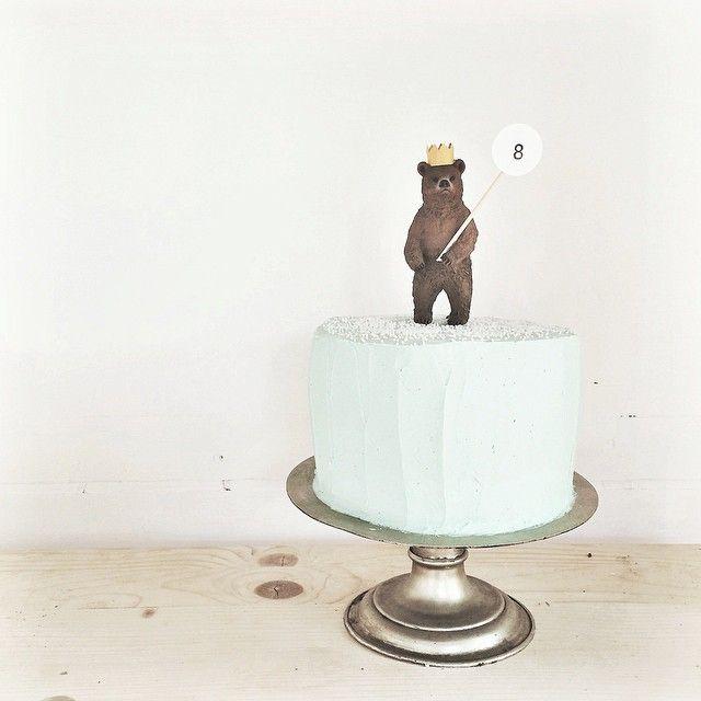 Preciosa tarta oso para un cumple Rústico