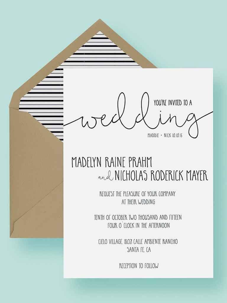 3 Printable Wedding Invitation Templates You Can DIY  Wedding