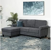 Awe Inspiring Clarence Fabric Reversible Sofa Sectional Charcoal In 2019 Lamtechconsult Wood Chair Design Ideas Lamtechconsultcom