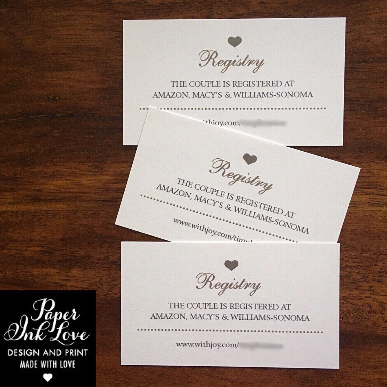 Wedding Website Enclosure Card Invitation Inserts With Etsy Wedding Website Card Wedding Gift Registry Cards Wedding Hashtag Cards