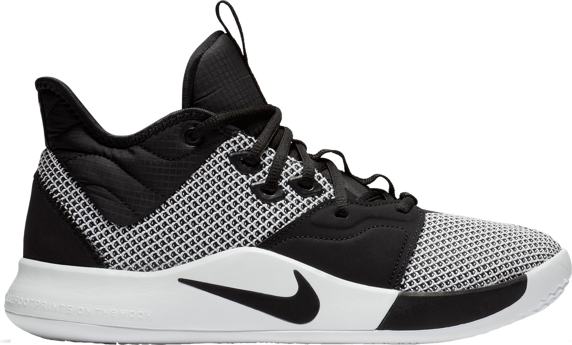pg3 basketball shoes black and white