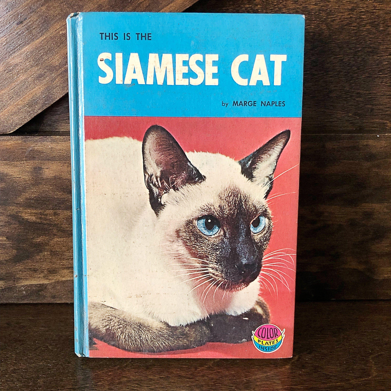 Vintage Siamese Cat hardcover book, published 1964, black