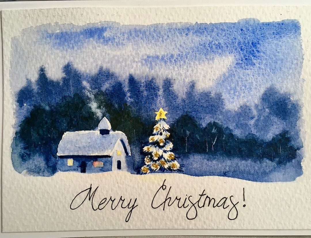 Watercolor Christmas Cards Orders Are Welcome Www Nadjasart Com