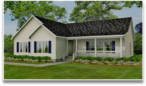 Landscape For Ranch Style House L Shape House Roof Is Gable Window Style Is Casement And Set Low Ranch House Landscaping House With Porch Ranch Style Homes