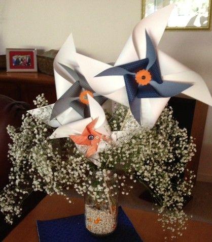 stampin up pinwheel centerpiece