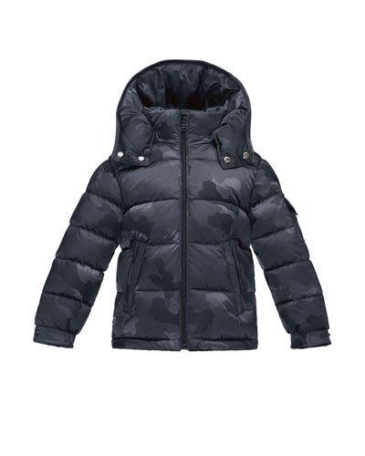 3d187b9bb K0NH3 Moncler Maya Camo Puffer Coat
