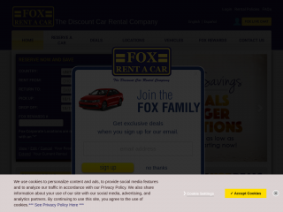 Fox Rent A Car Coupon Codes Discount Code Promotional Codes Free Shipping Code Coding Coupons Promo Codes