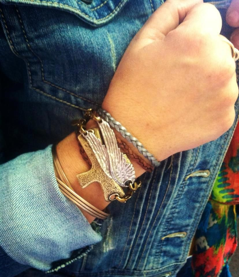 Lenny and Eva ...love the Cross and Wings Pendant on Leather Braided Bands |  CLICK THIS PIN if you want to learn how you can EARN MONEY while surfing on Pinterest