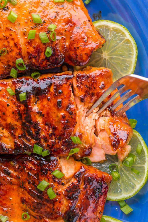 Honey Glazed Salmon Recipe - NatashasKitchen.com