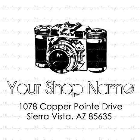 Vintage Camera (Rubber Stamp) $16 for advertising/stamping