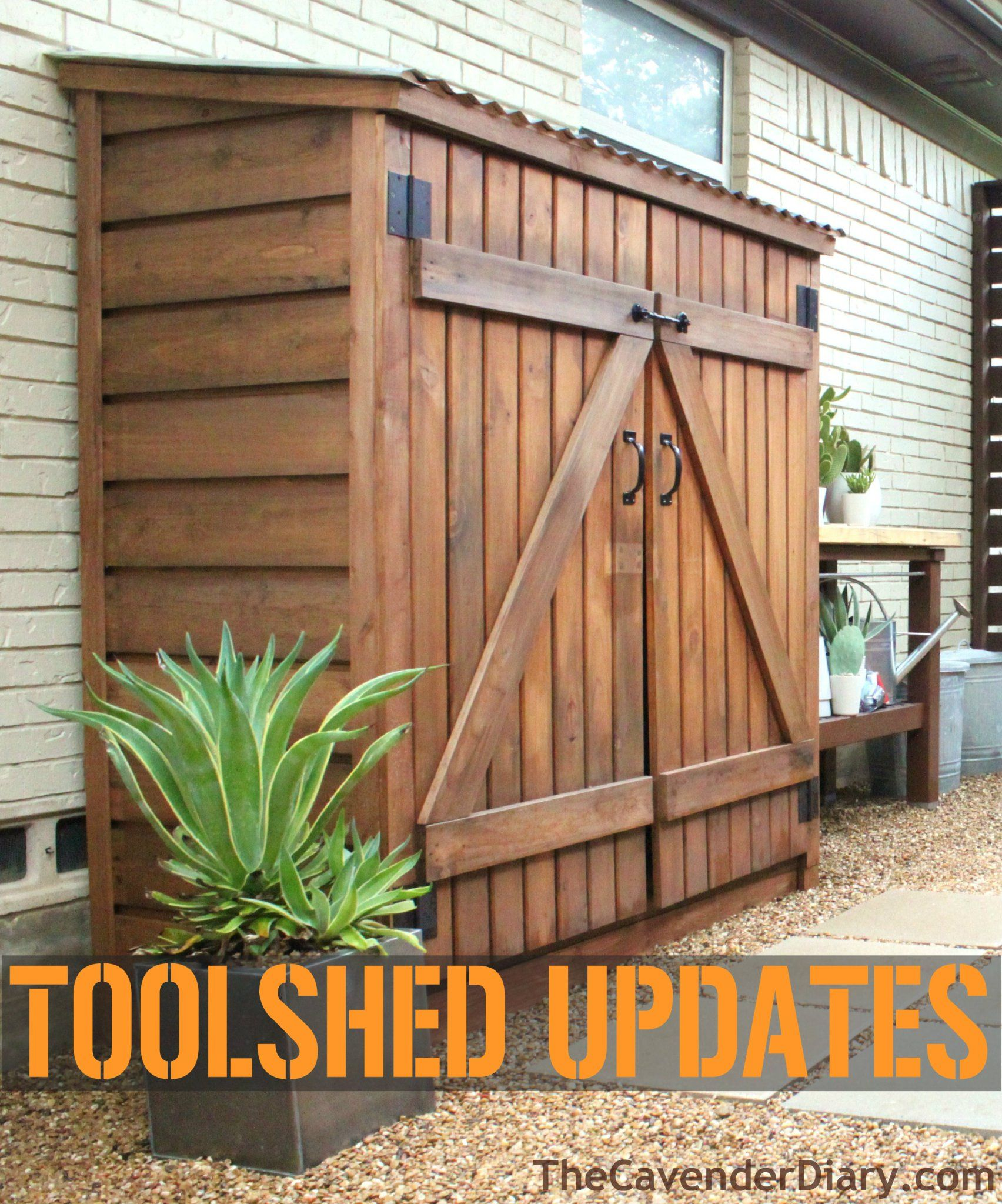 Updated Tool Shed In The Cavender Diary Side Yard