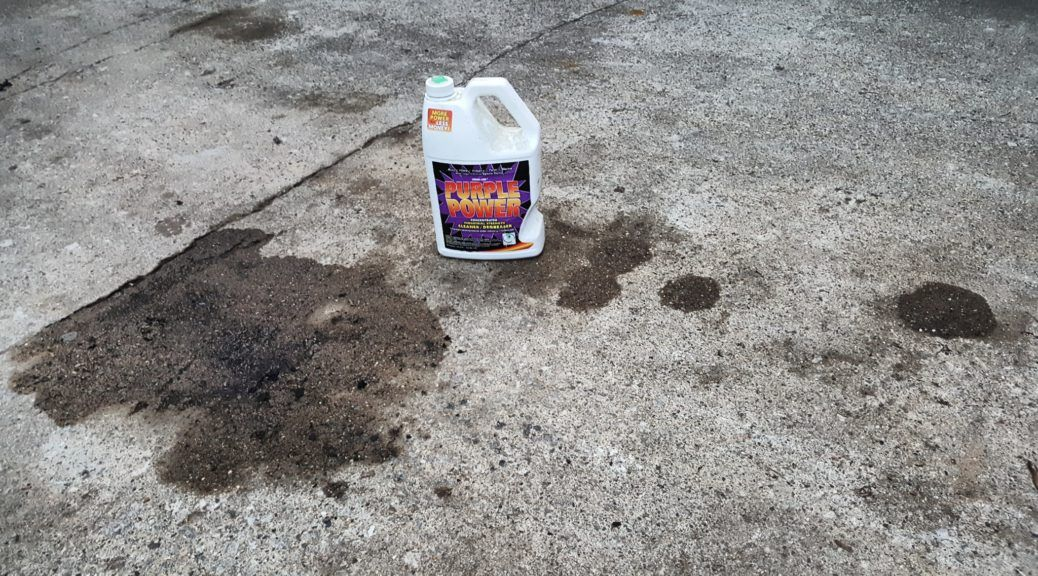 Clean Up Oil On A Cement Driveway