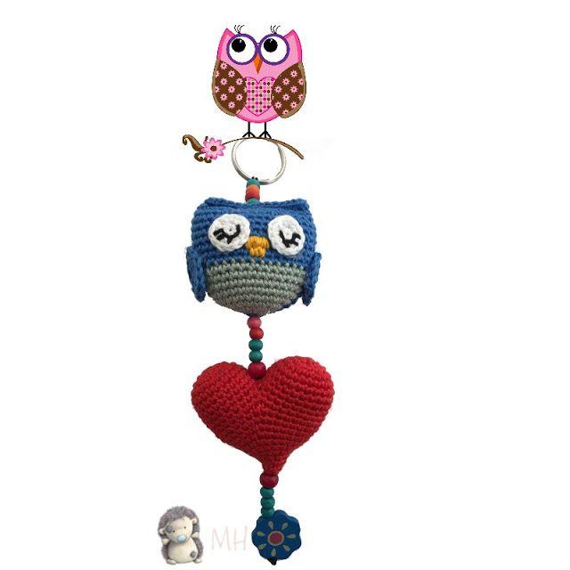 Colgante búho amigurumi | Ideas de crochet | Pinterest | Colgantes ...