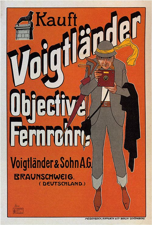 photograph regarding Free Printable Vintage Posters identified as Voigtlander Digicam - Typical Advertising and marketing Poster, promoting
