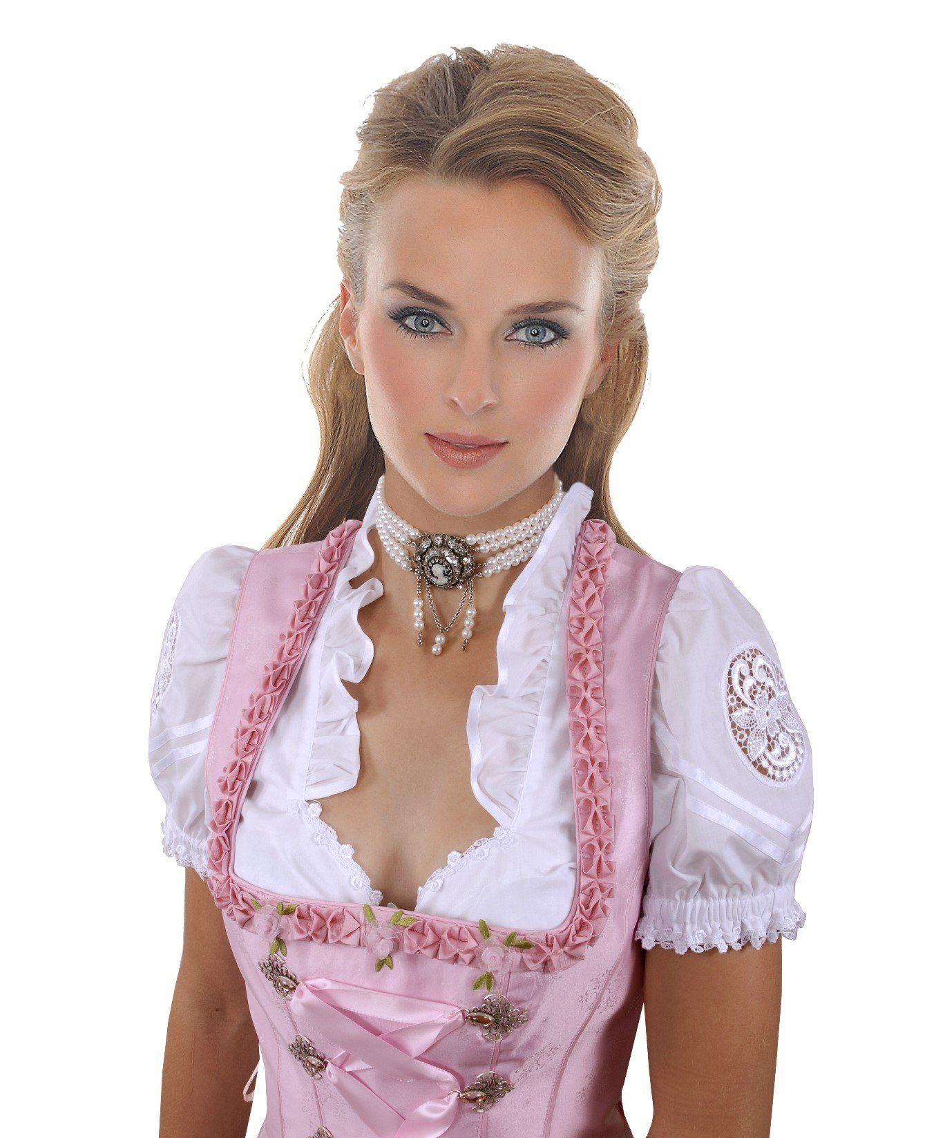 Noble Dirndl blouse with lace medallion - Top Quality: Amazon.de: Clothing