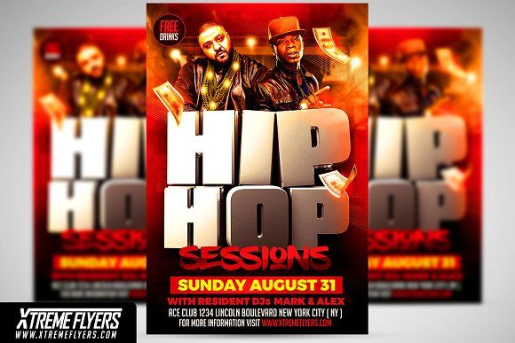Hip Hop Flyer Template By Xtremeflyers On Creativemarket
