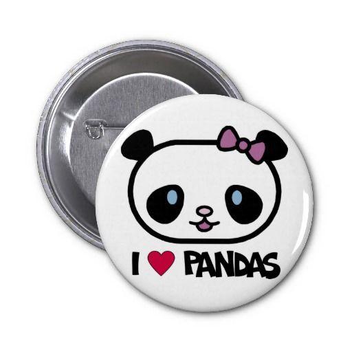 I Love Pandas Pin