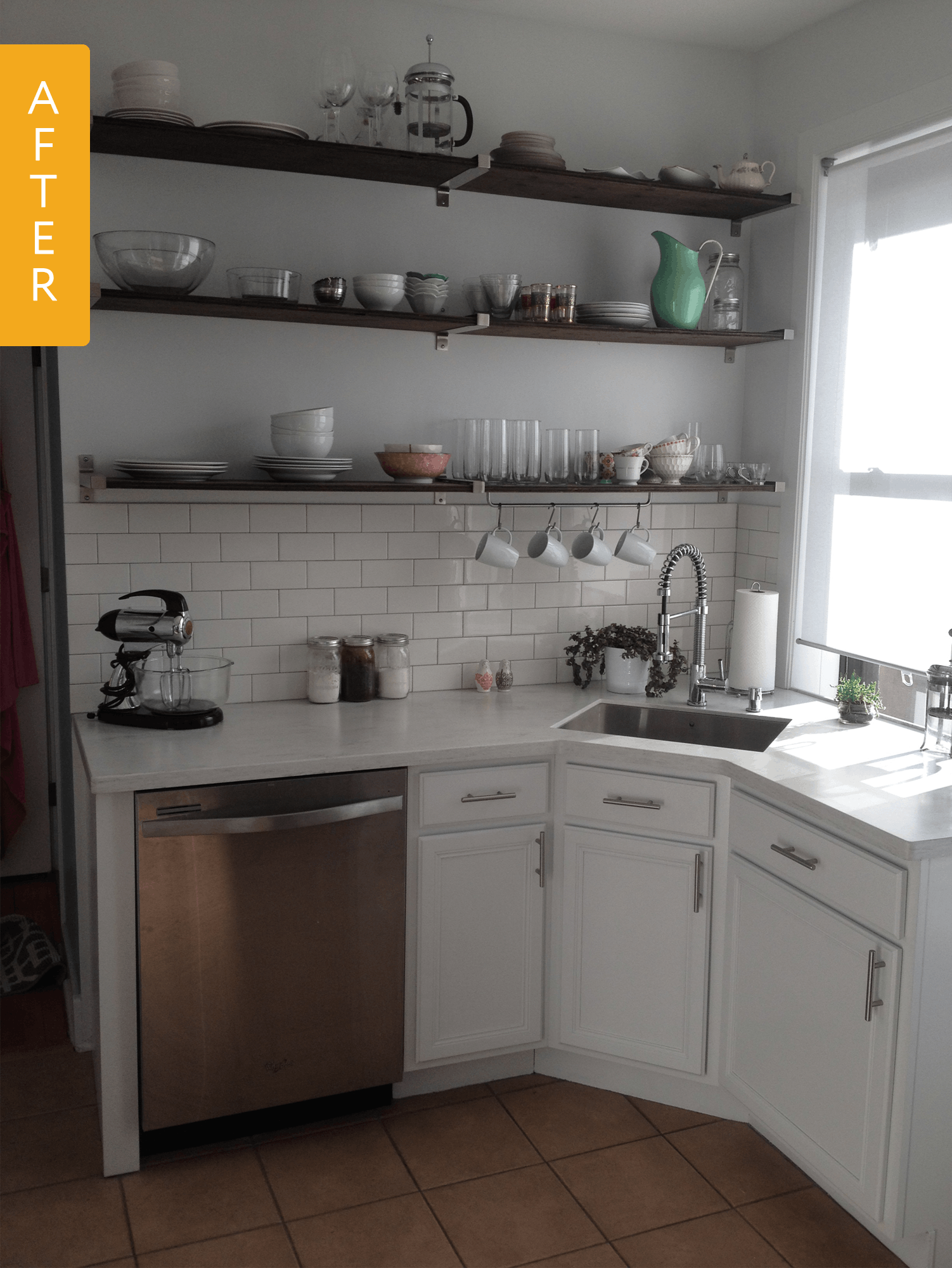 Before After A Tiny Kitchen Lightens Up With A 6 000 Remodel Kitchen Design Small Kitchen Remodel Small Kitchen Renovation