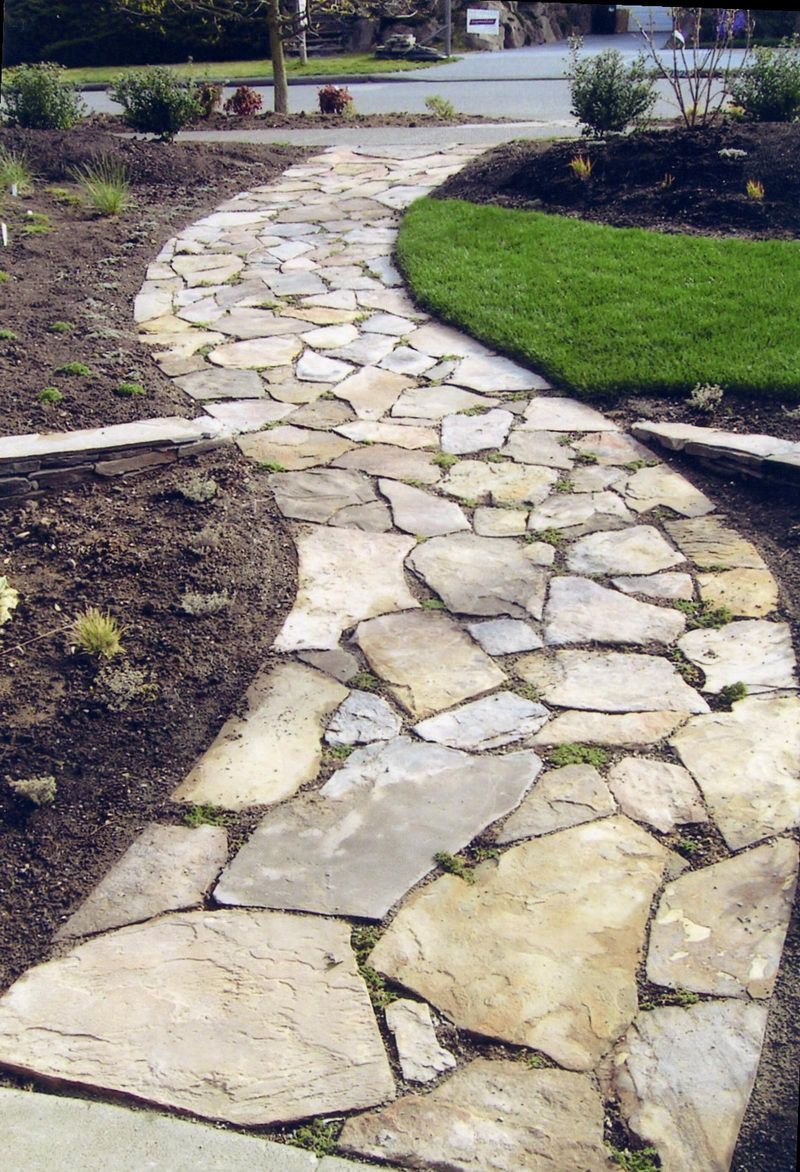 Stone walkways 800x1172 seattle landscape company offering for Landscaping ideas stone path