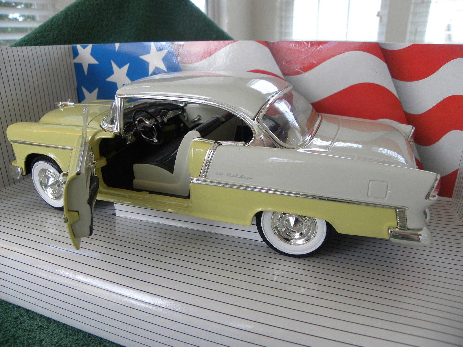 Ertl 1955 American Muscle Chevy Bel Air 1 18 Diecast Car   eBay