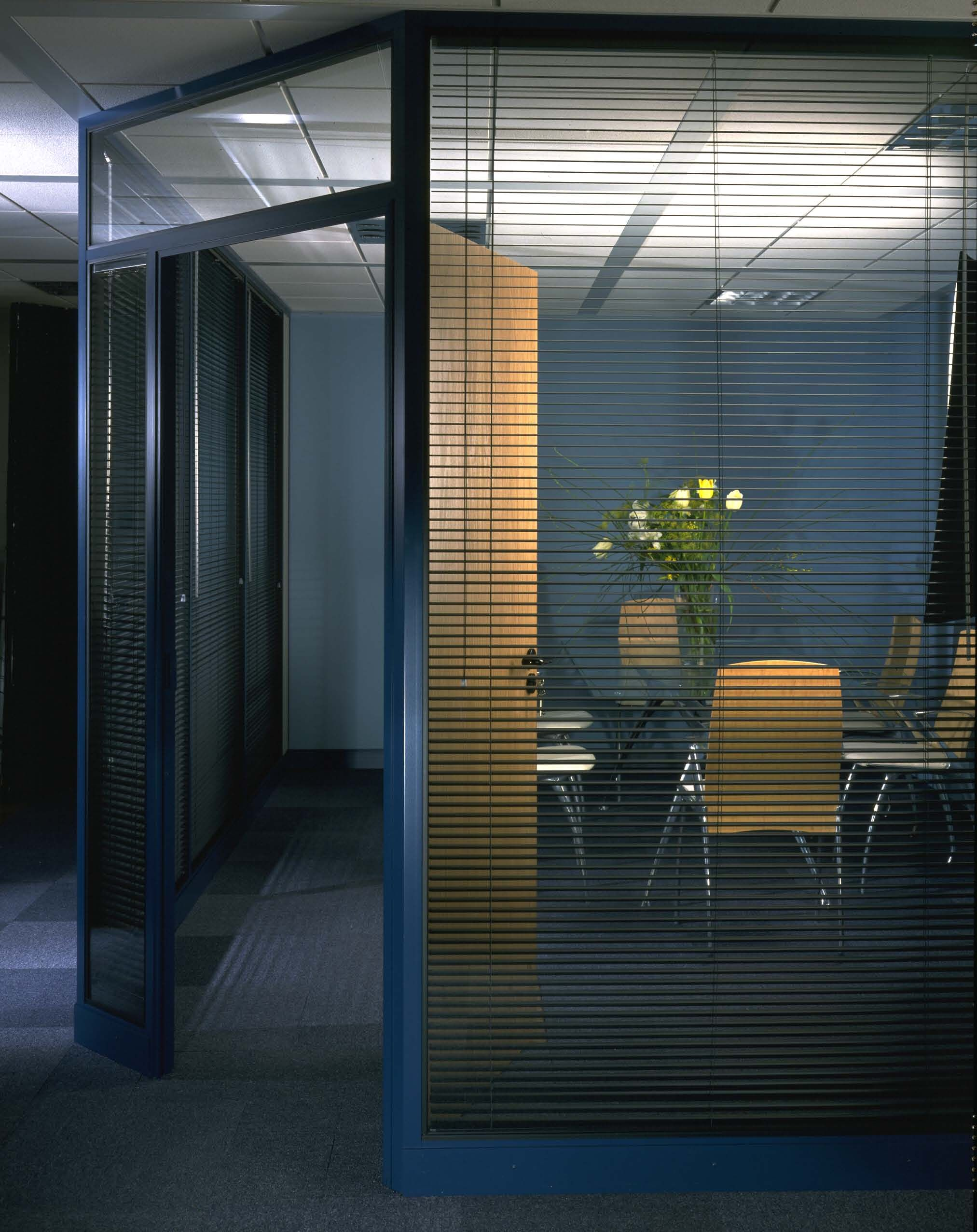 Meeting room with integral blinds jigsaw interiors and furniture