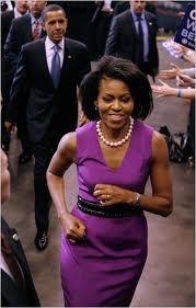 Michelle the fittest of all first ladies and one the best advertisements for pearls..God luva!