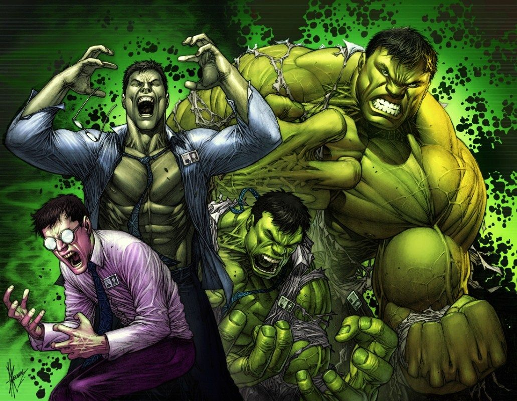 Image result for hulk and bruce banner comic