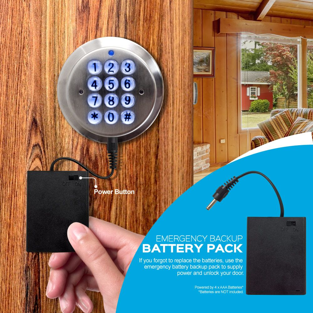 What If My Digital Door Lock Runs Out Of Battery You Ask Turbolock Comes W A Backup Battery Port Http A Co Battery Backup Digital Door Lock Smart Lock