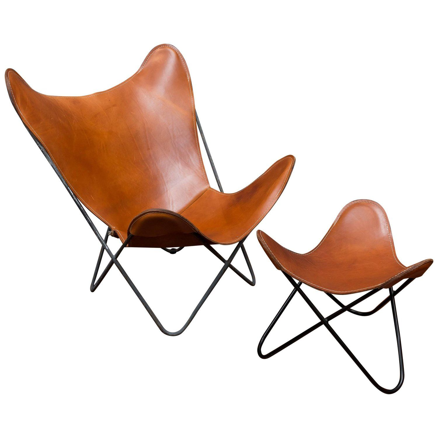 Butterfly Lounge Chair And Ottoman For Knoll Leather Butterfly Chair Butterfly Chair Chair And Ottoman