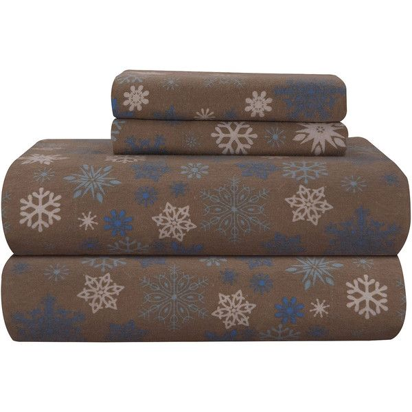 Pointehaven Heavy Weight Flannel Twin Sheet Set ($170) ❤ Liked On Polyvore  Featuring Home
