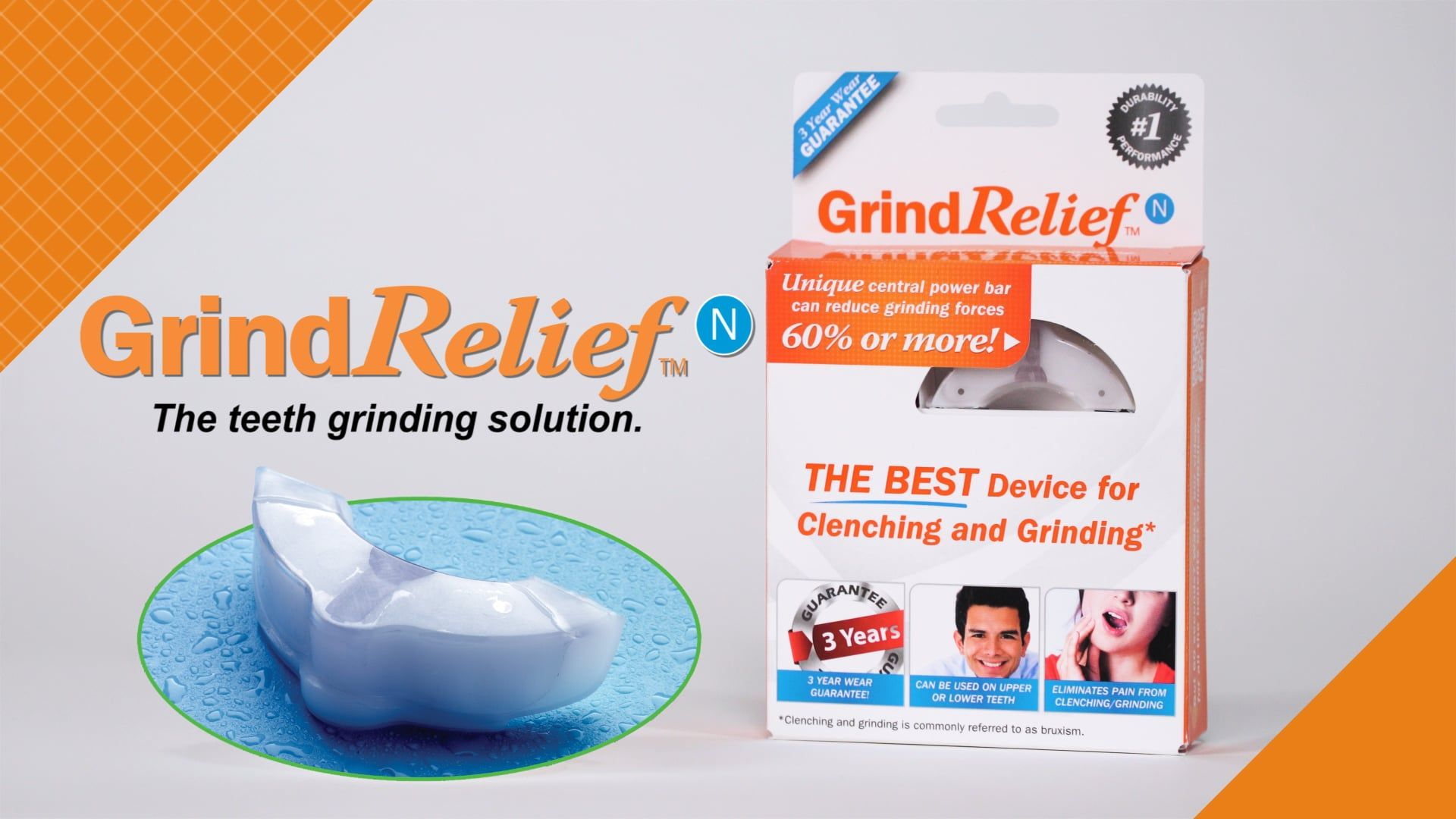 GRN_PROMO Mouth guard, Grinding teeth, Clenched