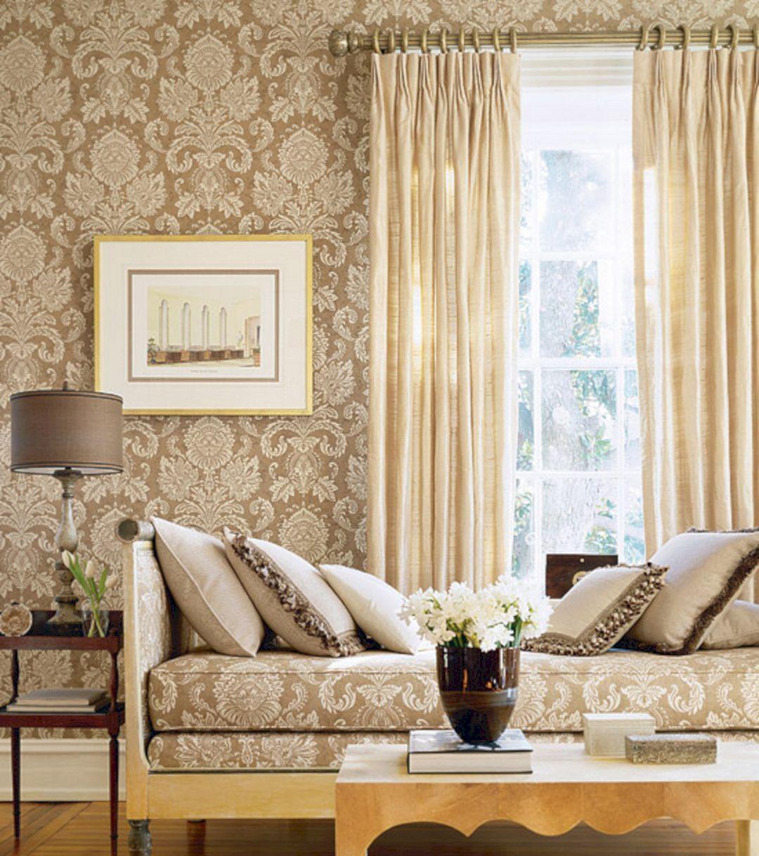 The Best 25+ Elegant Living Room Wallpaper Design For ...