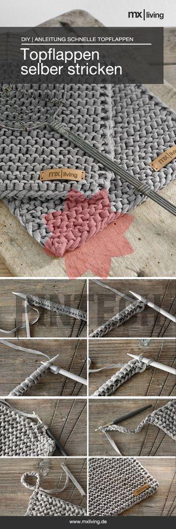 Photo of DIY   Topflappen stricken – mxliving Tolles Projekt auch für Anfänger: selbst …