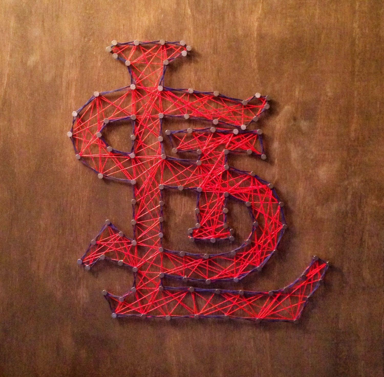 Handmade 24X24 St Louis Cardinals String Art, Wall Art By
