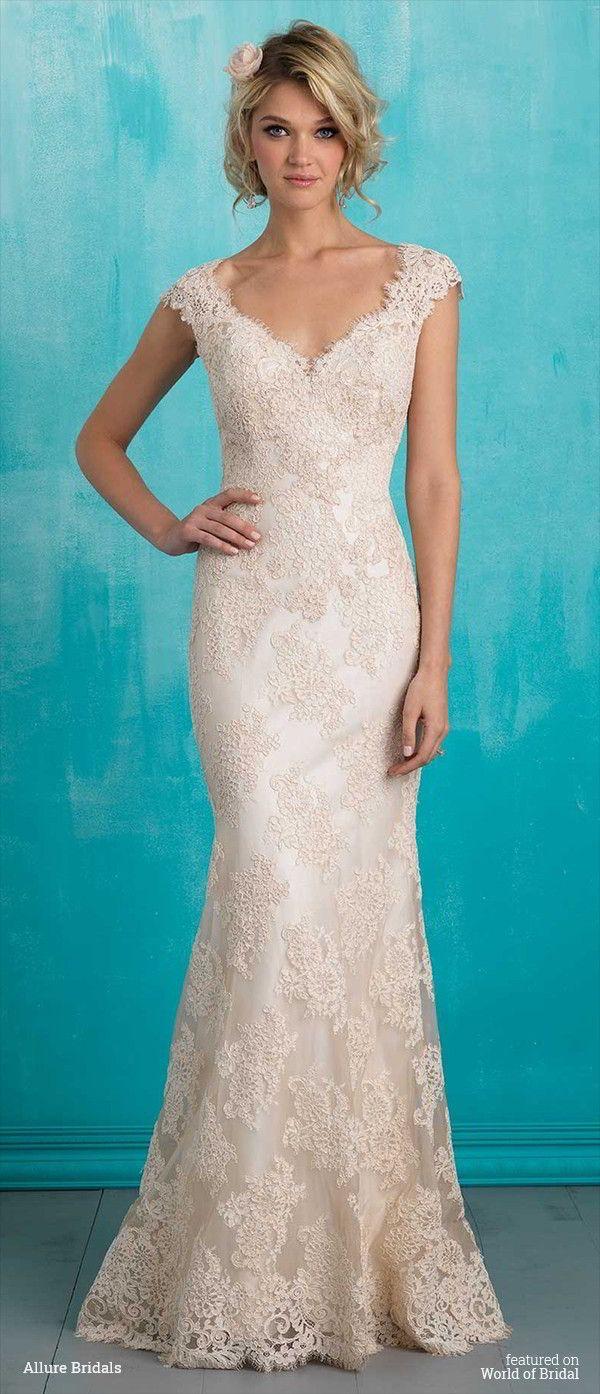 Wedding dress slip  Allure Bridals Spring  Wedding Dresses  Vintage lace Wedding
