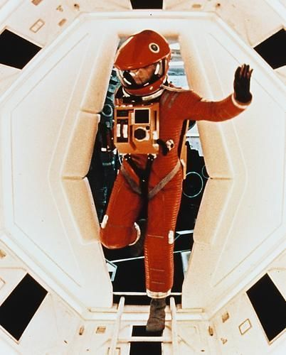 2001 A Space Odyssey 24x30 Poster Keir Dullea Walking Along Corridor Space Suit Space Suit Space Odyssey 2001 A Space Odyssey