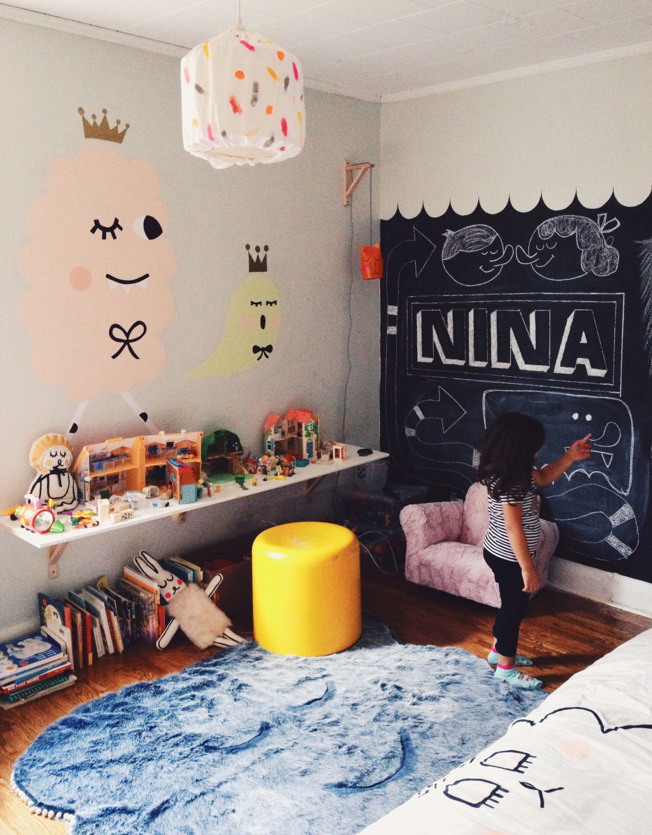 cozy kids furniture. Cozy Kids Room With Chalk Paint Wall Furniture D